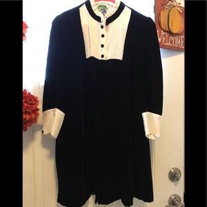 Zara velvet black/white dress